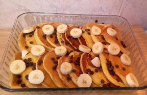 csokis banános amerikai palacsinta sütés előtt